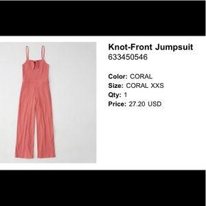 Abercrombie & Fitch Knit-Front Jumpsuit